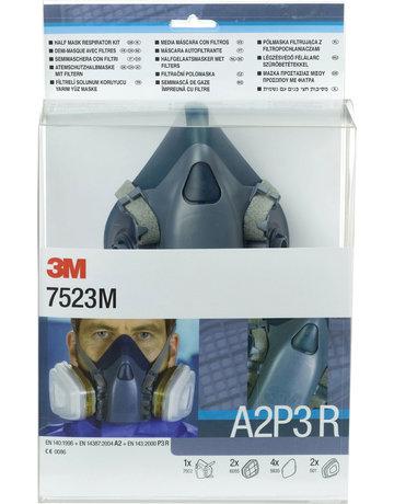 3M 3M 7523M starterskit voor halfgelaatsmaskers met A2-P3 R filtercombinatie