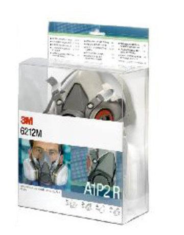 3M 3M 6212M starterskit voor halfgelaatsmaskers met A1-P2 R filtercombinatie