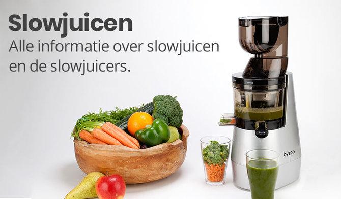 Slowjuicen. Wat is het? Hier vindt u alles over slowjuicen en de juicers.