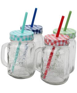 4 Glazen Drinkbekers