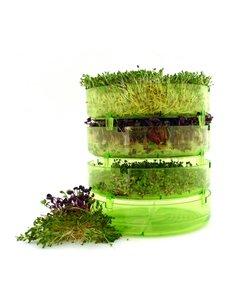 GEO Plus Plastic Kiemtoren + gratis 3 soorten GEO kiemzaden + boek Kiemgroenten zelf kweken