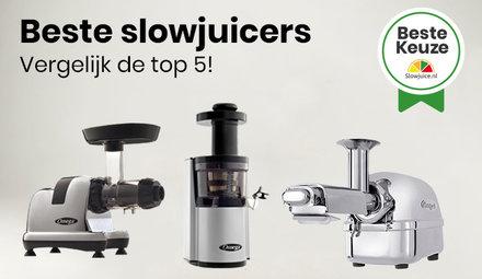 Vergelijk Top 5 Beste Slowjuicers