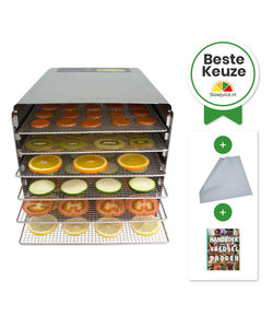 Byzoo Voedseldroger DH02 + Gratis boek + 6  Extra Droogvellen