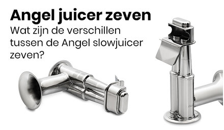 Different kinds of Angel Juicer strainers