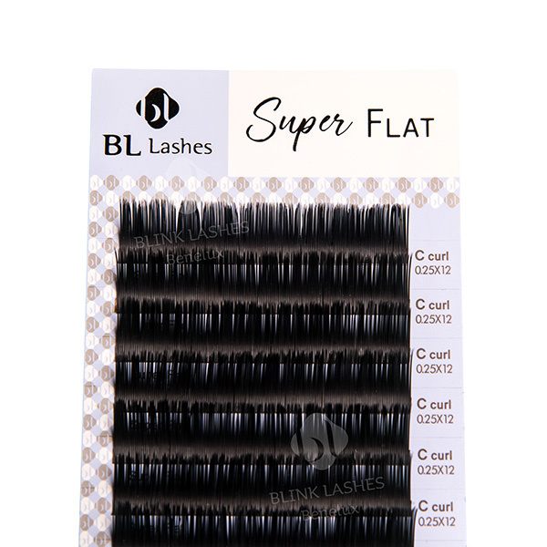 Super Flat Lashes - C curl - thickness: 0.25-2