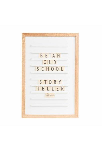 LEDR Oldschool Letterboard Wit