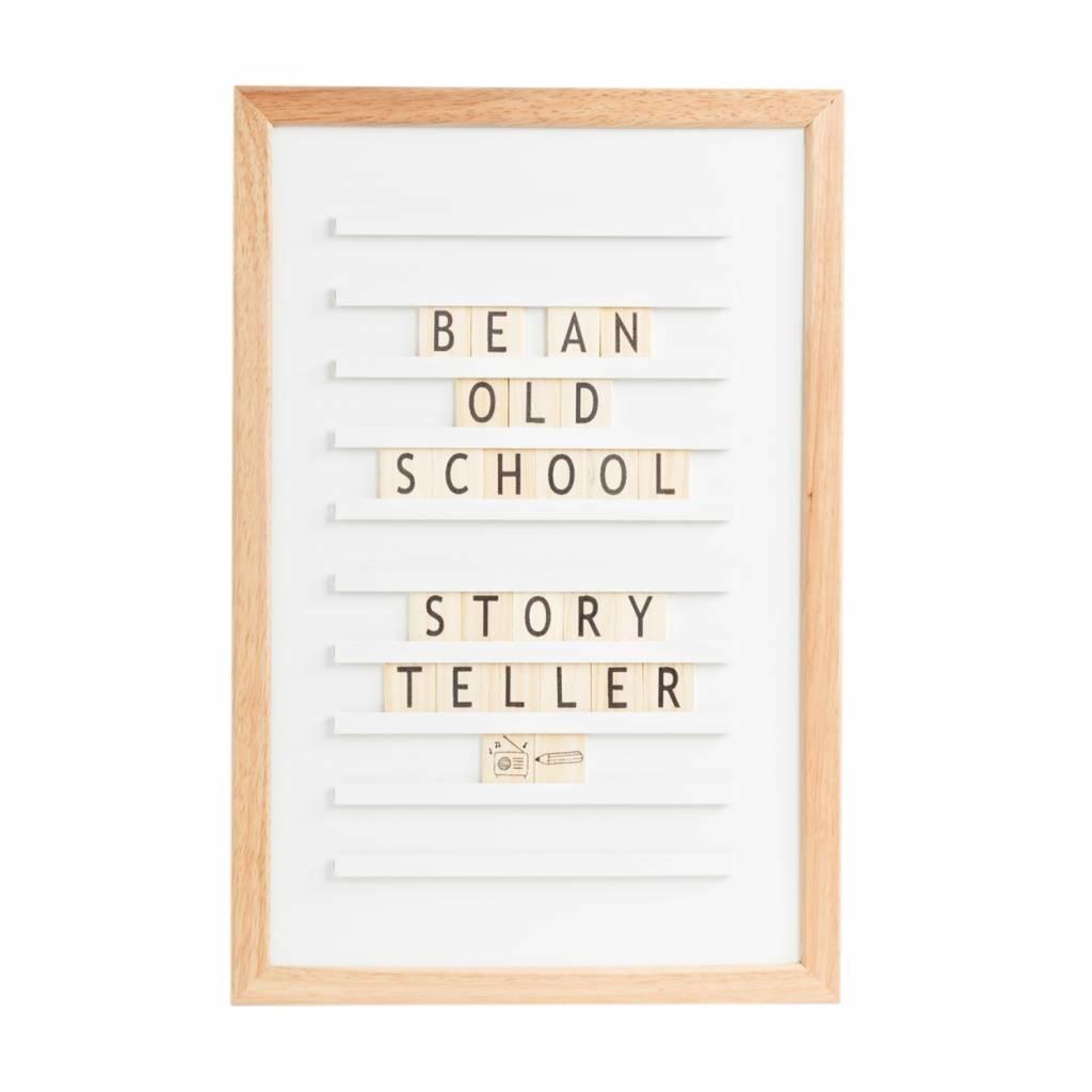 LEDR Oldschool Letterboard Wit 30x45 cm-1