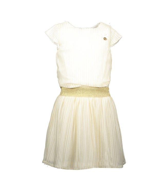 Le chic Le chic : Ecru met gouden jurk