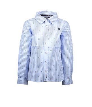 Le chic garçon Le chic garçon : Lichtblauw gestreept hemd