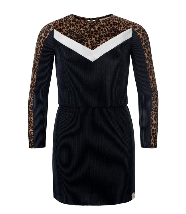 Looxs Looxs : Blauw kleed met luipaardprint