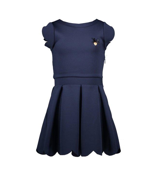Le chic Le chic : Blauw kleed met open rug