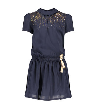 Nono Nono : Blauw kleed met gouden detail