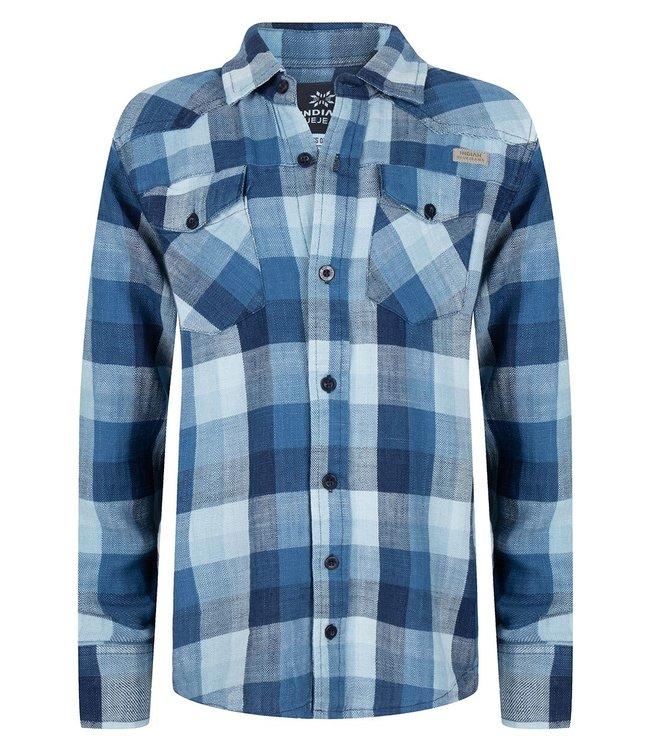 Indian Blue Jeans Indian Blue Jeans : Hemd Check Indigo