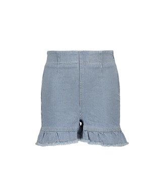 Like Flo Like Flo : Gestreepte jeansshort met ruffles