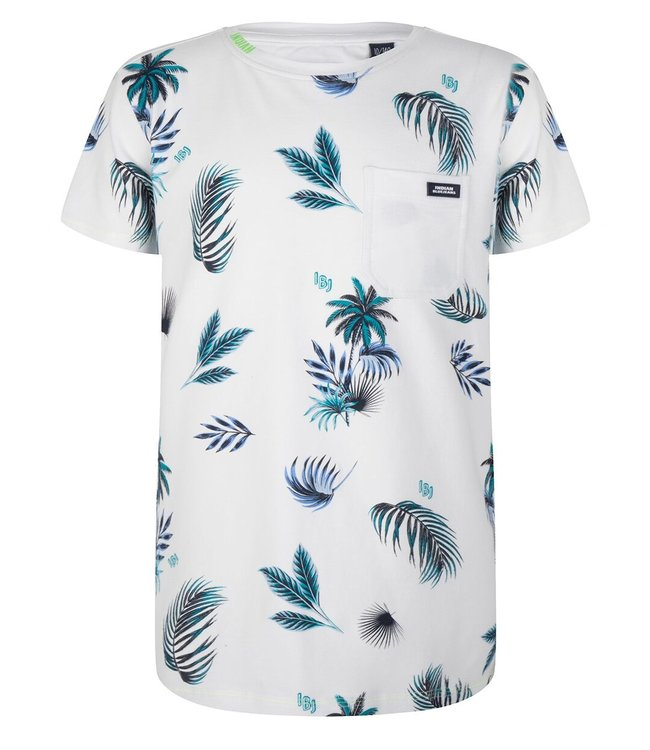 Indian Blue Jeans Indian Blue Jeans : T-shirt Palm Print (Wit)