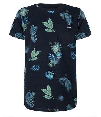 Indian Blue Jeans Indian Blue Jeans : T-shirt Palm Print (Blauw)