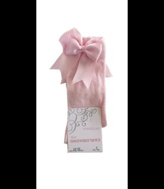 Carlomagno Carlomagno : Roze kniekous met strik