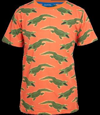 Someone Someone : T-shirt Croco (orange)