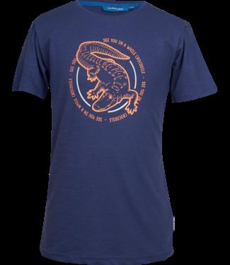 Someone Someone : T-shirt Croco (navy)