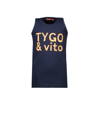 Tygo & Vito Tygo & Vito :  Blauwe tanktop