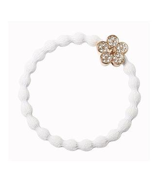ByEloise ByEloise : Witte armband met blinkende bloem