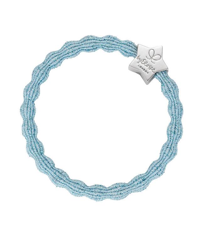 ByEloise ByEloise : Blinkende lichtblauwe armband met zilveren ster