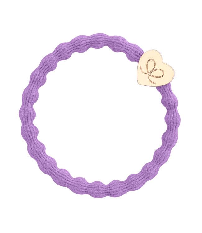 ByEloise ByEloise : Paarse armband met gouden hart