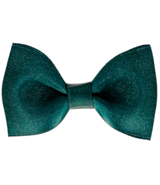 Your little miss Your little miss : Haarspeldje Green sparkle bow