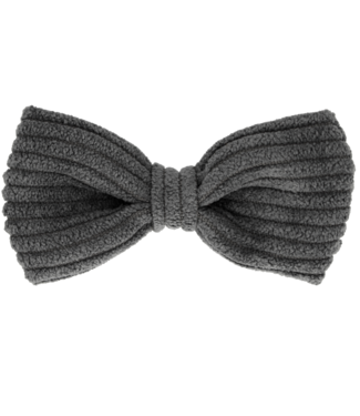 Your little miss Your little miss : Haarspeldje Charcoal rib bow