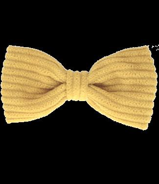 Your little miss Your little miss : Haarspeldje Ochre rib bow
