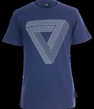 Someone Someone : T-shirt Frame (donkerblauw)