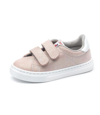 Cienta Cienta : Roze sneaker met velcro