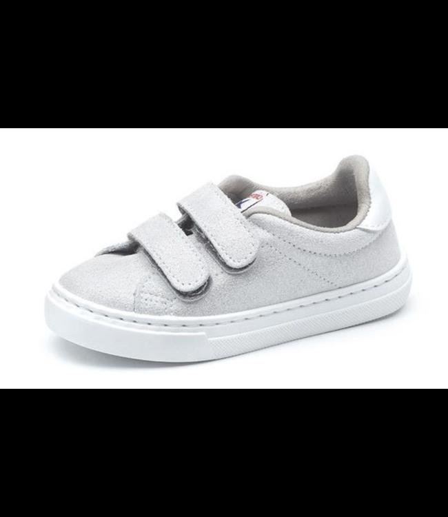Cienta Cienta : Zilveren sneaker met velcro