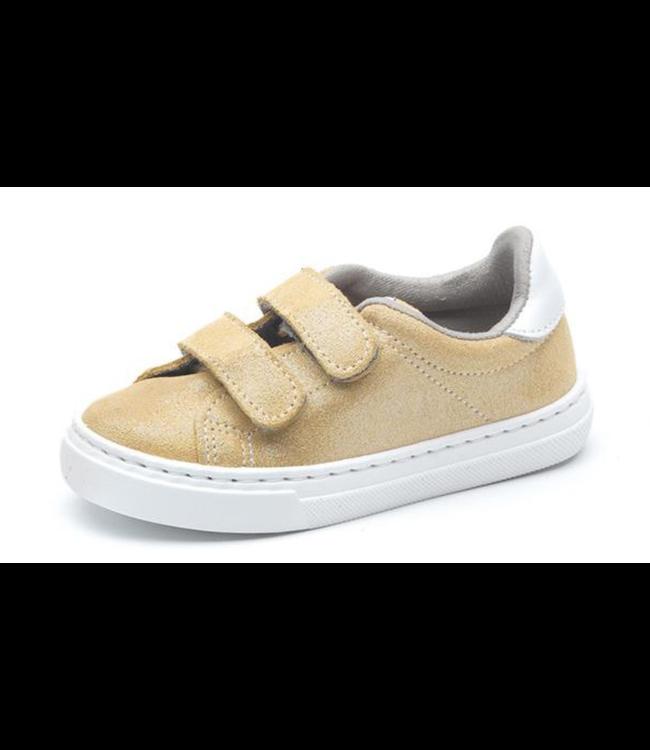 Cienta Cienta : Gouden sneaker met velcro