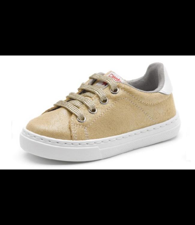 Cienta Cienta : Gouden sneaker met veters