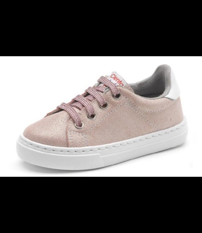 Cienta Cienta : Roze sneaker met veters