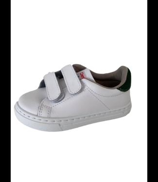 Cienta Cienta : Witte sneaker met velcro