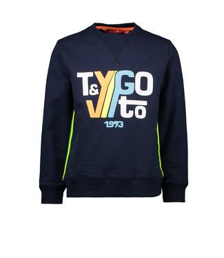 Tygo & Vito Tygo & Vito :  Sweater Tygo & Vito 1973 (blauw)