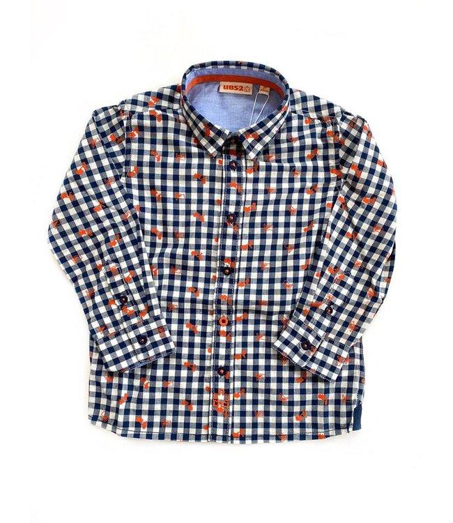 UBS.2 UBS.2 : Blauw/wit geruit hemd