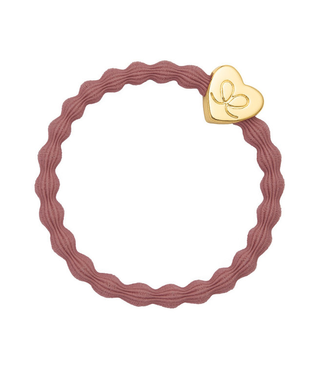 ByEloise ByEloise : Oudroze armband met gouden hart
