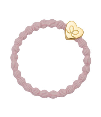 ByEloise ByEloise : Lichtroze armband met gouden hart