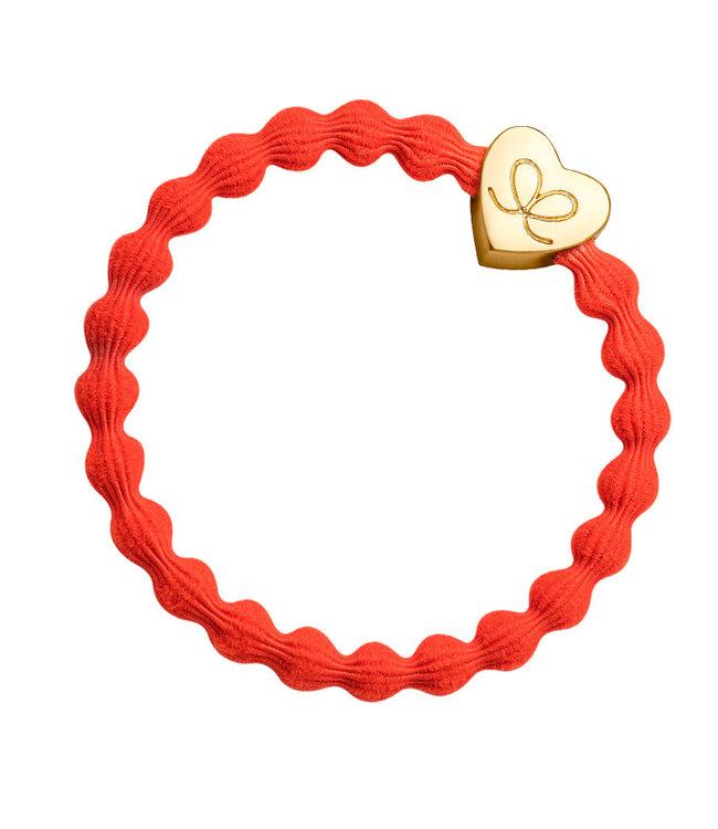 ByEloise ByEloise : Oranje armband met gouden hart