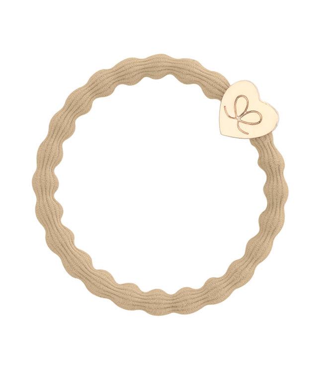 ByEloise ByEloise : Ecru armband met gouden hart
