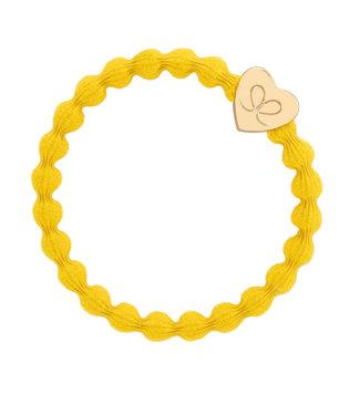 ByEloise ByEloise : Gele armband met gouden hart