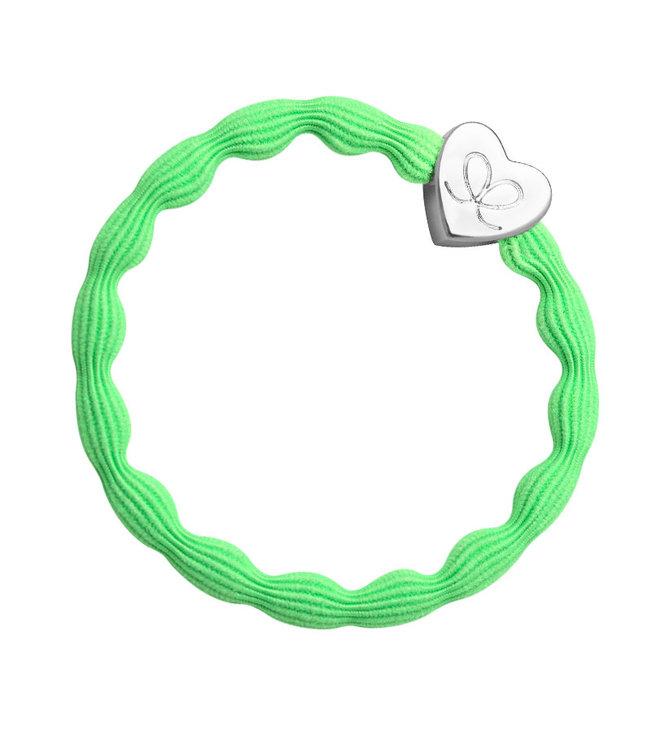 ByEloise ByEloise : Felgroene armband met zilveren hart