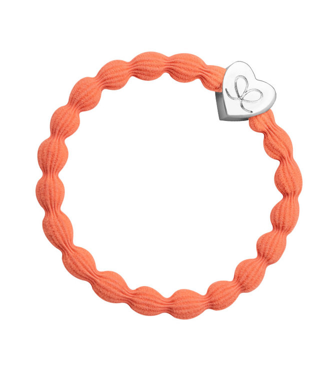 ByEloise ByEloise : Feloranje armband met zilveren hart