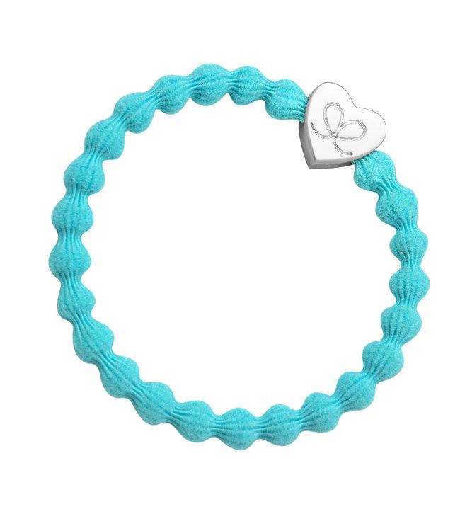 ByEloise ByEloise : Felblauwe armband met zilveren hart