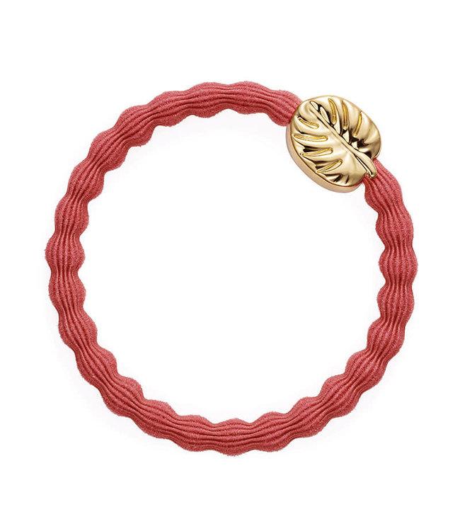 ByEloise ByEloise : Koraal armband met gouden blad