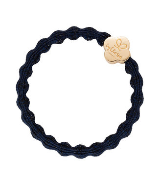 ByEloise ByEloise : Blinkende blauwe armband met gouden klavertje