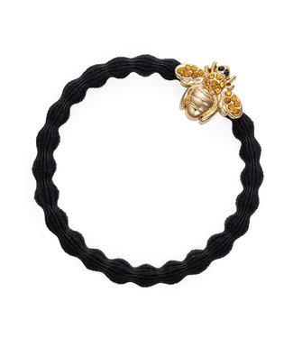 ByEloise ByEloise : Zwarte armband met blinkende bij